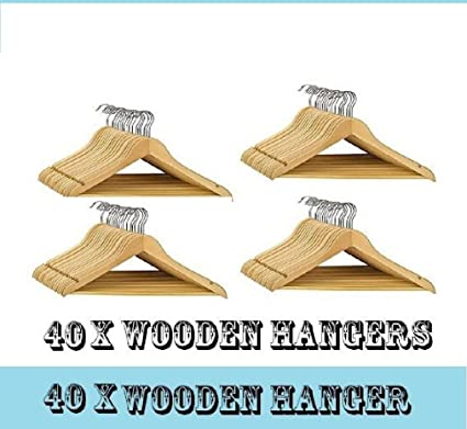 40 x calidad de madera perchero percha para pantalones con ...
