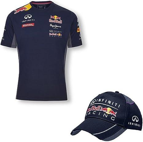 Infiniti Red Bull Racing Teamline Formula One 1 F1 – Camiseta de manga corta para hombre y gorra del equipo, hombre, azul, XXL: Amazon.es: Deportes y aire libre