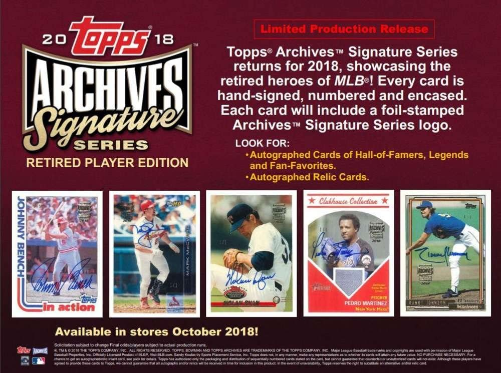 2020 topps archives signature series checklist