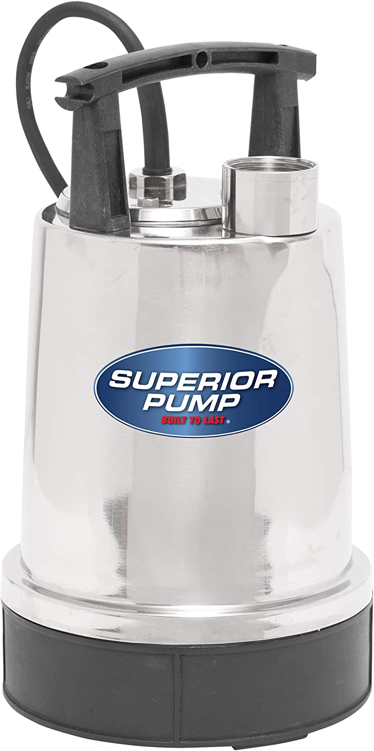 Superior Pump 91592 Stainless 1/2 HP Steel Utility Pump.5