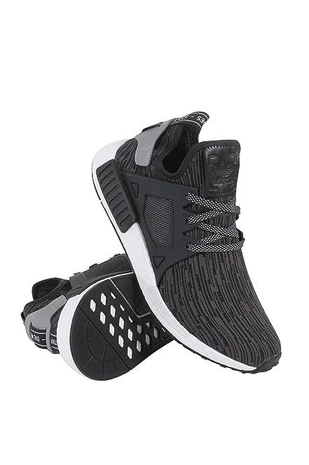 s77195 uomini nmd rt pk adidas nero argento moda