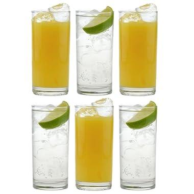 Traditional Tumbler Hiball Glasses - Pack of 6 Glasses - 285ml / 10oz