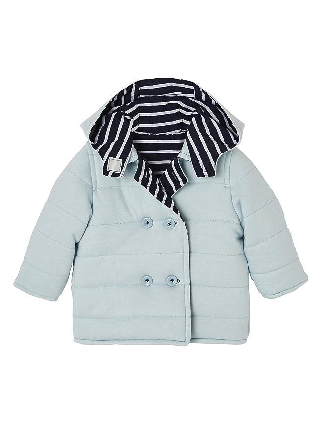 Vertbaudet Wetterfeste Wende Jacke für Baby Jungen Marine