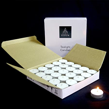The Light of EDEN TEALIGHT Candle White (Set of 50 PCS)