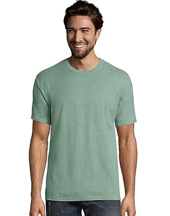 d7149956 Hanes Big Mens ComfortWash Garment Dyed Short Sleeve Tee: Amazon.co.uk:  Clothing