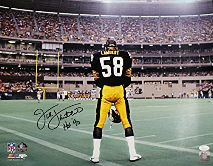 055016d5f Jack Lambert Autographed Signed Pittsburgh Steelers 16x20 Photo HOF ...