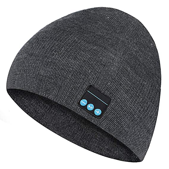 2e87a5234 Wireless Music Beanie Hat,Smart Winter Outdoor Sport Musical Knit Cap For  Men/Women,Warm Ski Music Gift Cap with Detachable Stereo Headphone Headset  ...