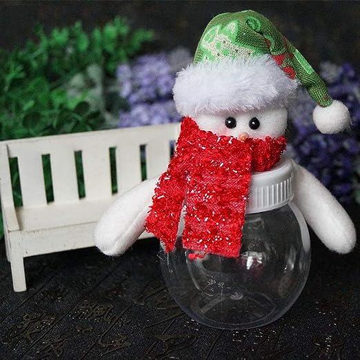 JUNMAONO Christmas Decoración, Tarro De Caramelo, Santa Tarro, Muñeco Botella, Navidad Decoraciones, Adornos Navideños (3): Amazon.es: Hogar