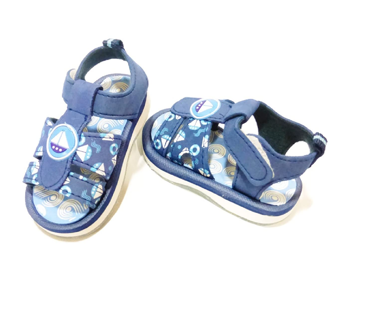 Navy Nautical Theme Sandals for Baby Boy 30-36 Months 6length