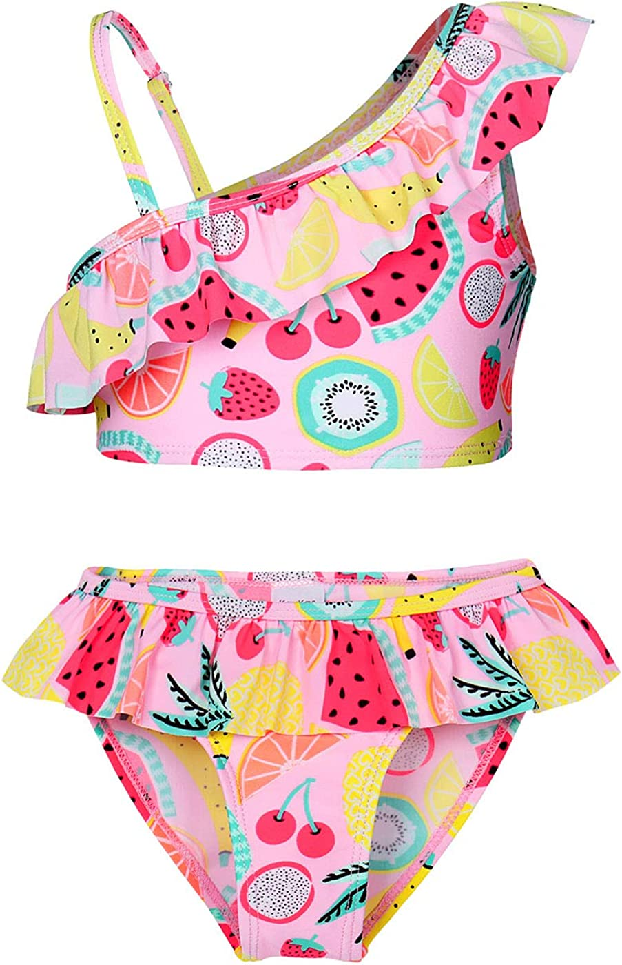 Kantenia Unicorn Swimsuit Girls Rainbow Two Pieces Swimwear Bathing Suit Bikinis Set