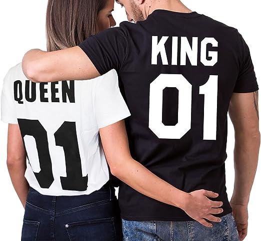 Medium Noir Daisy for U Lot /« King Queen /» Pull /à capuche pour couples Saint Valentin Cadeau pour couples