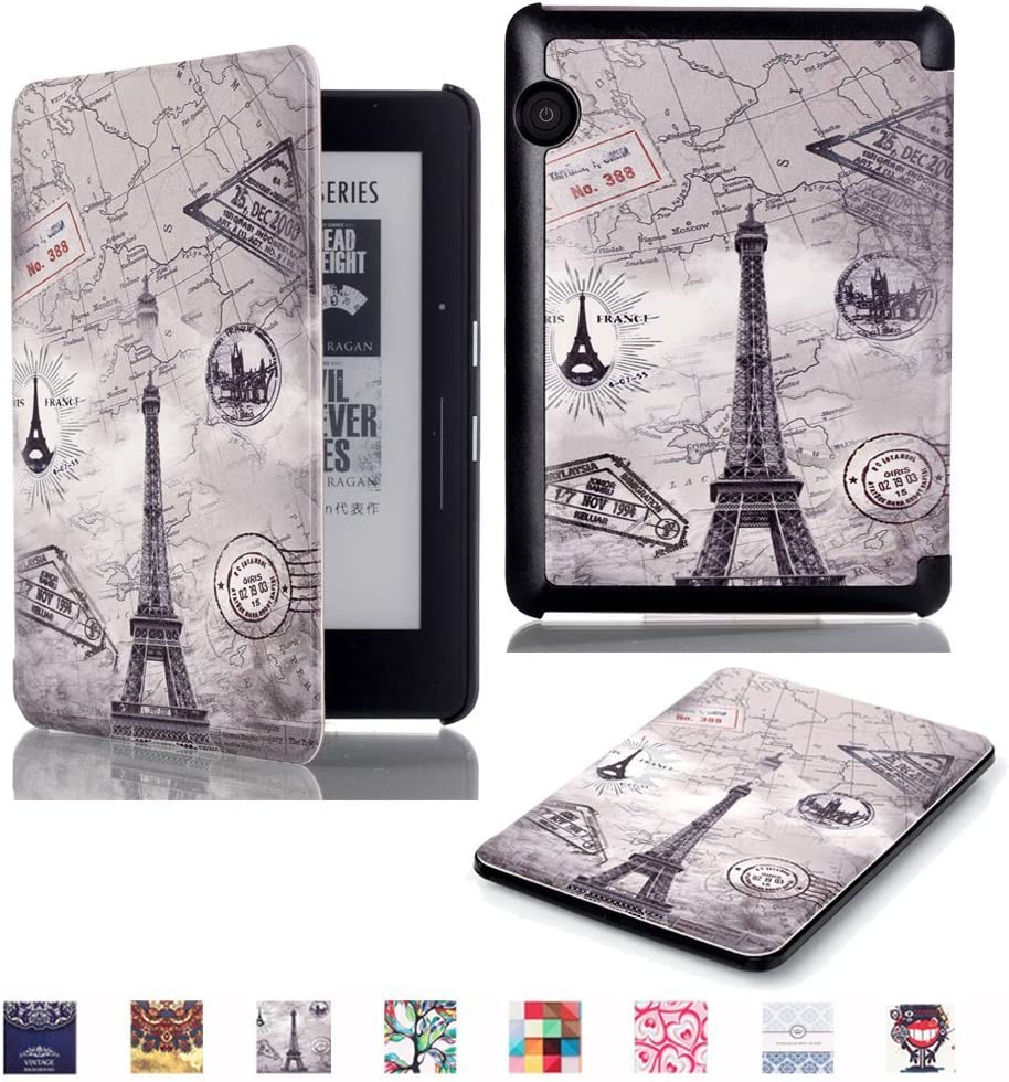 Case Cover con Supporto,Torre 2014 Edition Custodia Kindle Voyage in Pelle,PU Caso Pelle Flip Smart Case Protettiva Custodia in Pelle per  Kindle Voyage 6 pollici