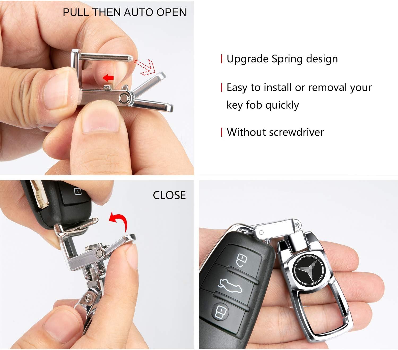 Feeke Flip Car Keychain for VW Volkswagen Heavy Duty Key Chain