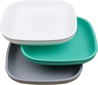 product image for Re-Play Made in USA - 3pk Deep Walled Plates (White, Aqua, Grey)