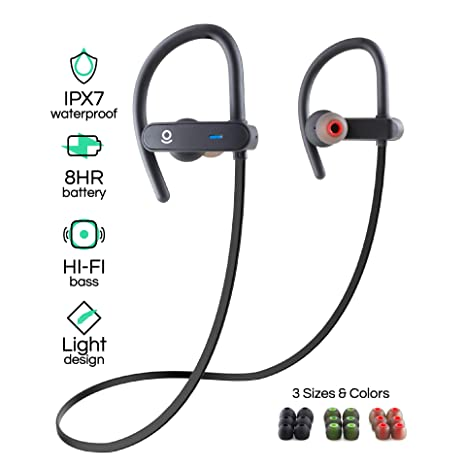 d32e202ec27 Wireless Bluetooth Sport Earbuds for Running, Workouts, and Exercise - HiFi  Stereo - IPX7