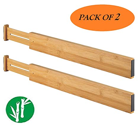 Amazon.com: TILEMALL Bamboo Kitchen Drawer Dividers Drawer ...