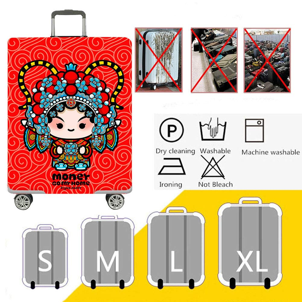 Travel Elastic Spandex Suitcase Protector Fits 18 to 32 Inch Luggage,A,XL Protective Washable Suitcase Cover HBWZ Luggage Cover