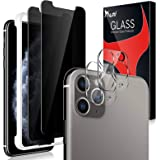 [4 Pack] Tauri 2 Pack Privacy Screen protector + 2 Pack camera lens Protector for iPhone 11 Pro Tempered Glass Screen…
