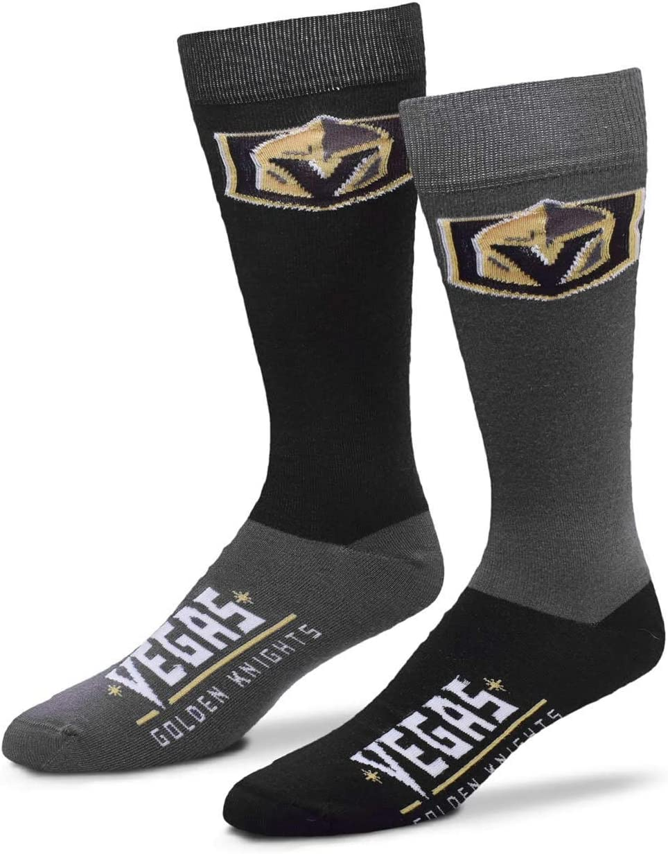 For Bare Feet Mens NHL 4-Square Mismatch Dress Socks
