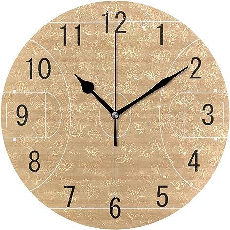 Pam9877ga - Reloj de Pared Redondo de Madera con diseño de Canasta ...