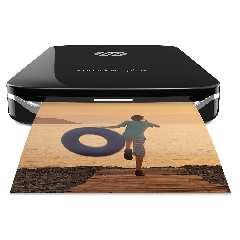 Pack HP Sprocket Plus - Impresora portátil + Papel fotográfico + Funda