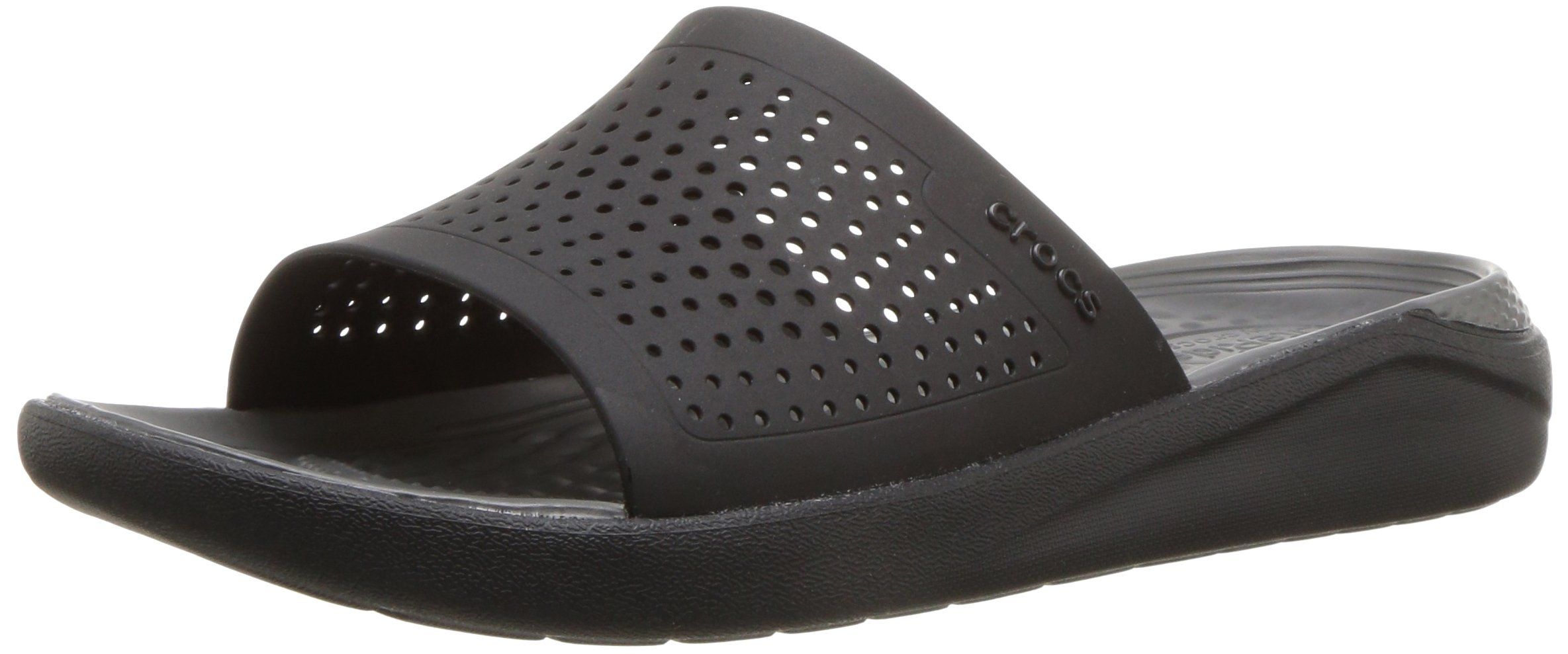 Crocs Unisex-Adults Literide Slide Sandal, Black/Slate Grey, 8 US Men/10 US Women by Crocs (Image #1)