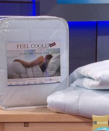 feel cooler mattress pad Amazon.com: Cooling Mattress Pad with Wicking Cover   Sleep Cooler  feel cooler mattress pad