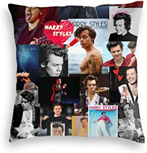 Dametul Soft Velvet Summer Decorative Throw Pillow Covers for Sofa Outdoors, Singer Songwriter Ha-rry-Styles Best Cushion Cases, 16