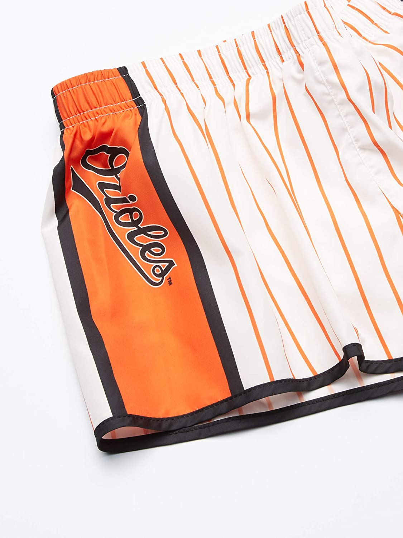 FOCO MLB Womens Pinstripe Polyester Shorts