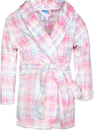 Med Length Sleep On It Coral Fleece Printed Robes for Boys with Shawl Collar