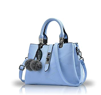 34f7cdbf09751 NICOLE   DORIS 2019 Neue Welle Paket Kuriertasche Damen weiblichen Beutel  Handtaschen für Frauen Handtasche Azurblau