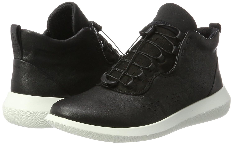 ECCO Women's Scinapse High Top Fashion Sneaker B0713QDP8B 40 EU/9-9.5 M US|Black/Black