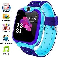 Bhdlovely Reloj inteligente para niños y niñas regalos de cumpleaños con cámara de música, 7 juegos, pantalla táctil…