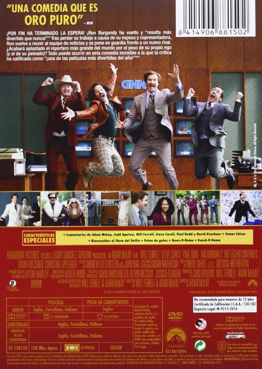 Los Amos De La Noticia [DVD]: Amazon.es: Will Ferrell, Steve ...