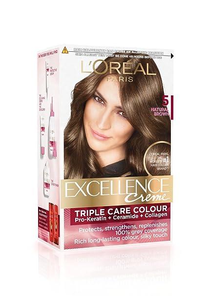 Buy L\'Oreal Paris Excellence Creme, Natural Brown 05 (72ml+100g ...