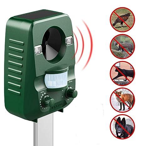 Repelente gato Ultrasonido Solar para éloigner los animales nuisibles de tu jardín | roedores topos gatos