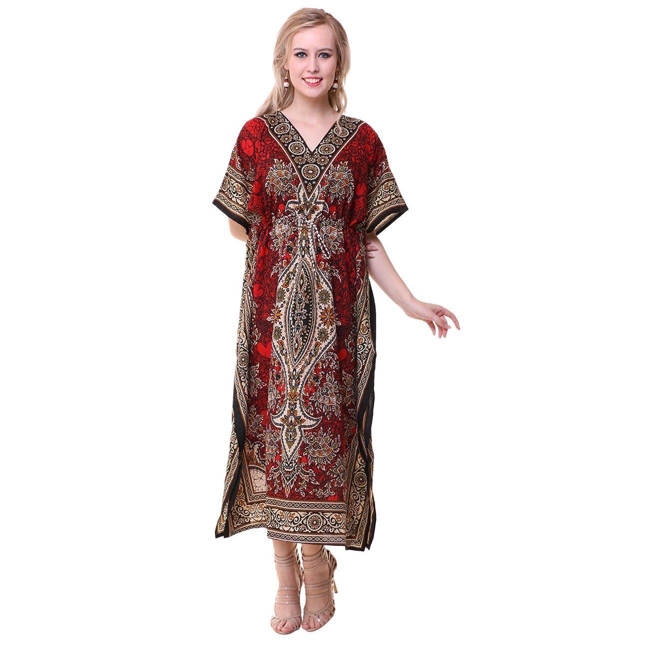 Royal Kurta Women's Dashiki Kaftans Viscose Kimono Lounger Dress