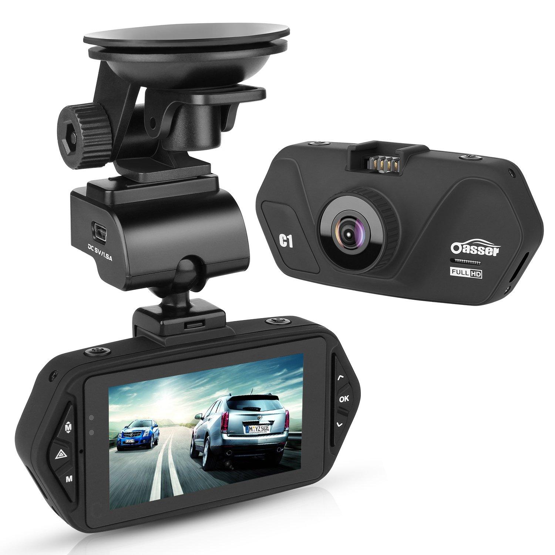 Oasser Dashcam Cámara de Coche Full HD P °Gran Ángulo LCD VIdeocámara