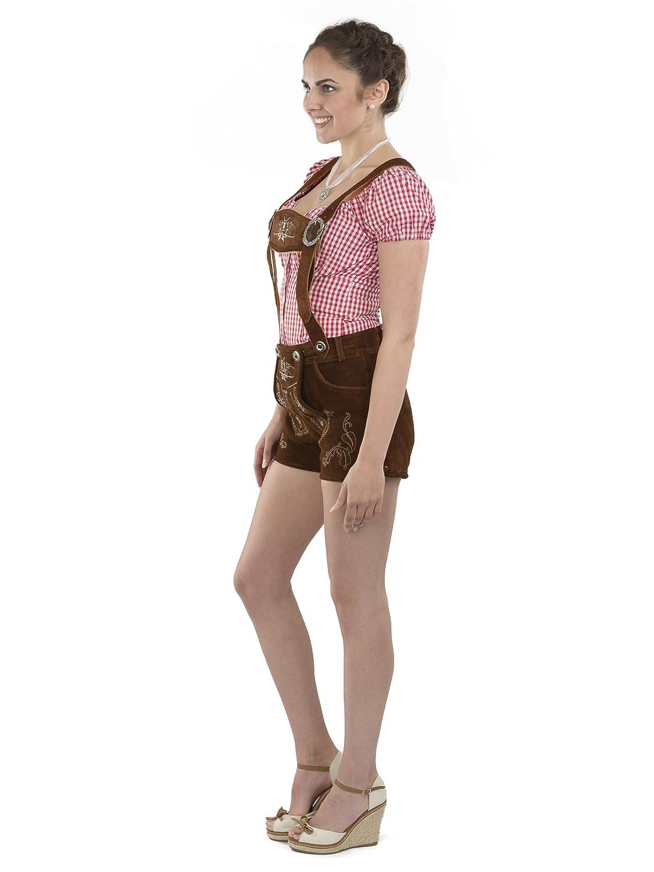 Octobre Cuir Pantalon D Lederhosen Fête Ladies Femme En Hotpants tshrBQCxdo