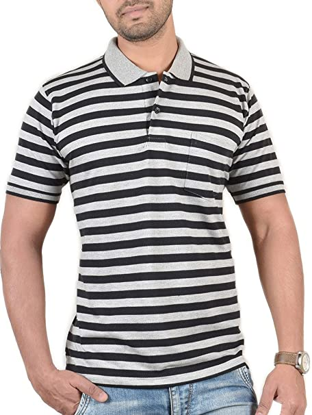 943efc43041 WEXFORD Men s Half Sleeve Polo Neck Casual T-Shirt  Amazon.in  Clothing    Accessories