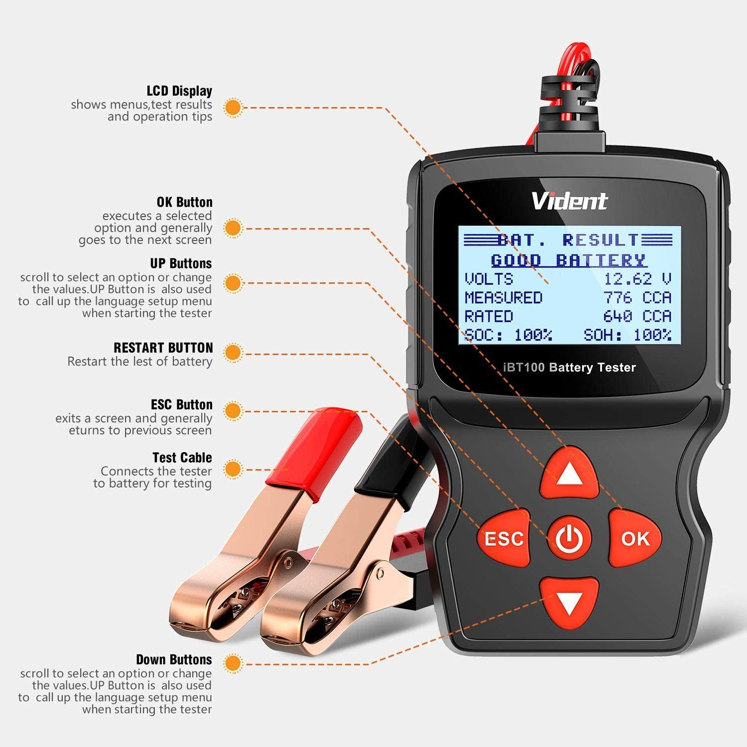 Vident iEasy200 Engine Code Reader with iBT100 Battery Tester