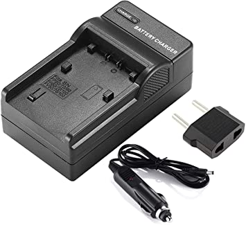 LCD USB Travel Battery Charger for Sony HDR-SR5 HDR-SR8 Handycam Camcorder HDR-SR7