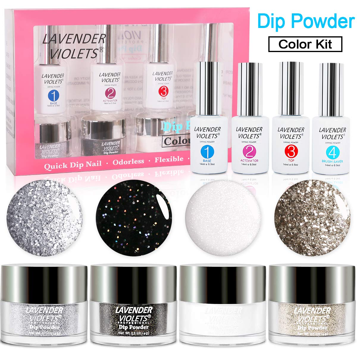 Dipping Powder Nail Kit LED-Lamp-Free-J770 by Lavender Violets