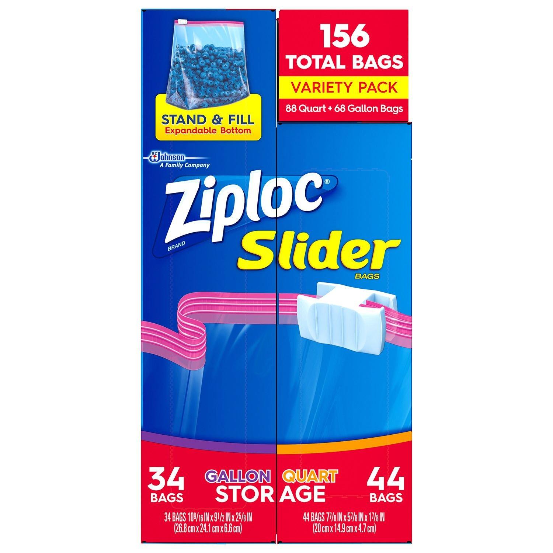 Amazon Com Great Value Slider Zipper Sandwich Sized Bags