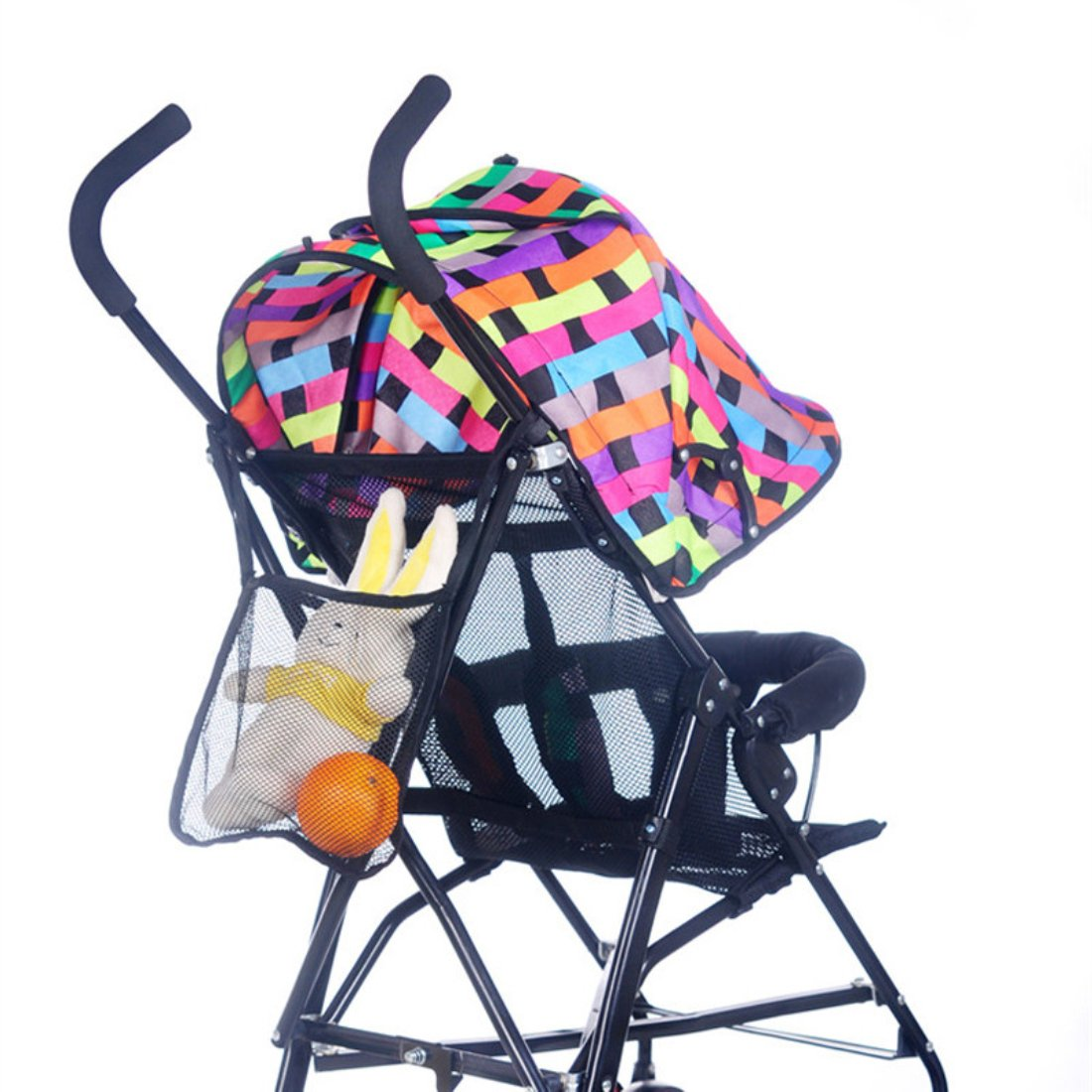 Voberry Baby Kids Stroller Hanging Bags Accessories Bottle Diaper Net Bag Black