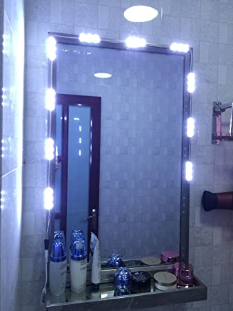 10ft LED White Dressing Mirror Lighted Cosmetic Makeup Vanity Light +remote+power