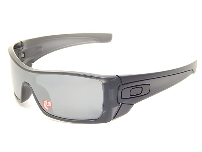 8a486efcf7 Image Unavailable. Image not available for. Colour  New Oakley Batwolf 9101-35  Matte Black Ink Black Iridium Polarized Sunglasses
