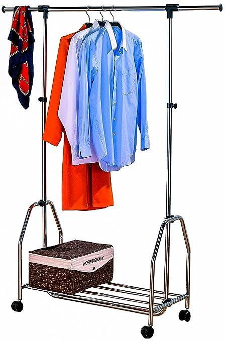 ASPECT Steel With Chrome Finish Double Adjustable Clothing Garment Rack Rail