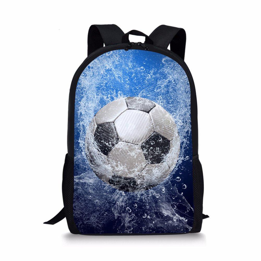 Foruidea - Mochila para niños (43 cm), diseño de balón de fútbol ...