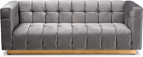 Baxton Studio Sofa, Gray
